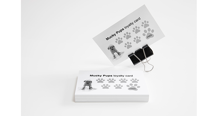 Mucky Pups loyalty cards