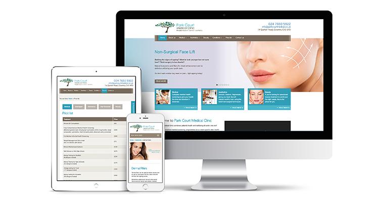 Park Court Medical Clinic website